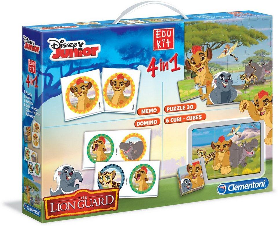 Clementoni Spielesammlung, »Disney Junior Edu Kit 4in1 Die Garde der Löwen«
