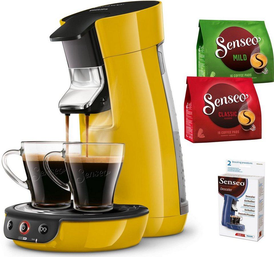 SENSEO® Kaffeepadmaschine Viva Café HD7829/50, inkl. Zugaben im Wert von bis zu 14 € in mangogelb