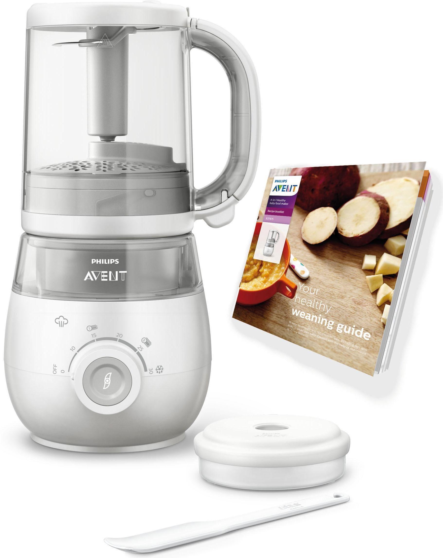 Philips Avent, 4-in-1 Babynahrungszubereiter SCF875/02, Dampfgarer und Mixer