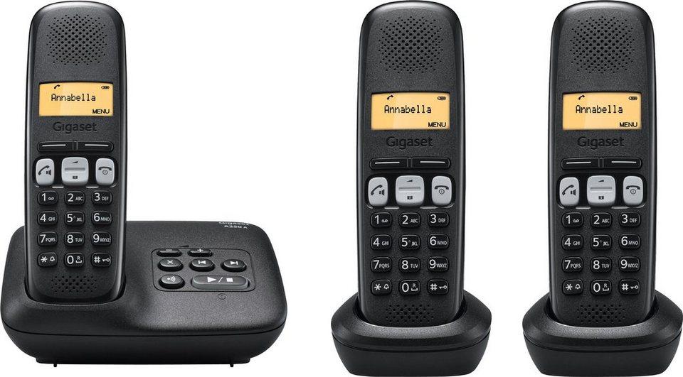 gigaset a250 a trio schnurloses dect telefon set mit ab. Black Bedroom Furniture Sets. Home Design Ideas