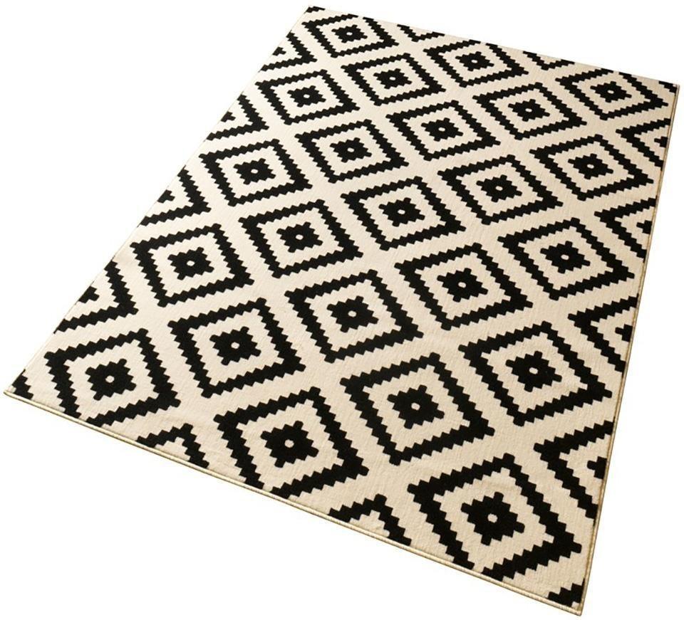 teppich raute hanse home rechteckig h he 9 mm velours haptik gekettelt online kaufen otto