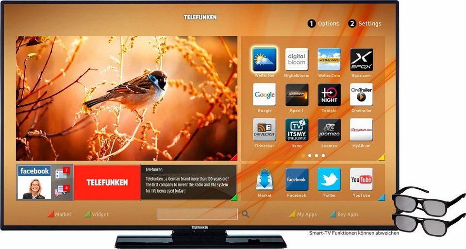 Telefunken L48F249N3C-3D, LED Fernseher, 122 cm (48 Zoll), 1080p (Full HD), Smart-TV in schwarz