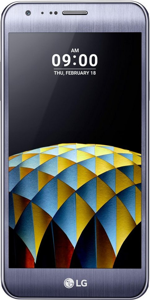 LG X Cam Smartphone, 13,2 cm (5,2 Zoll) Display, LTE (4G), Android 6.0 (Marshmallow), 13,0 Megapixel in titanfarben