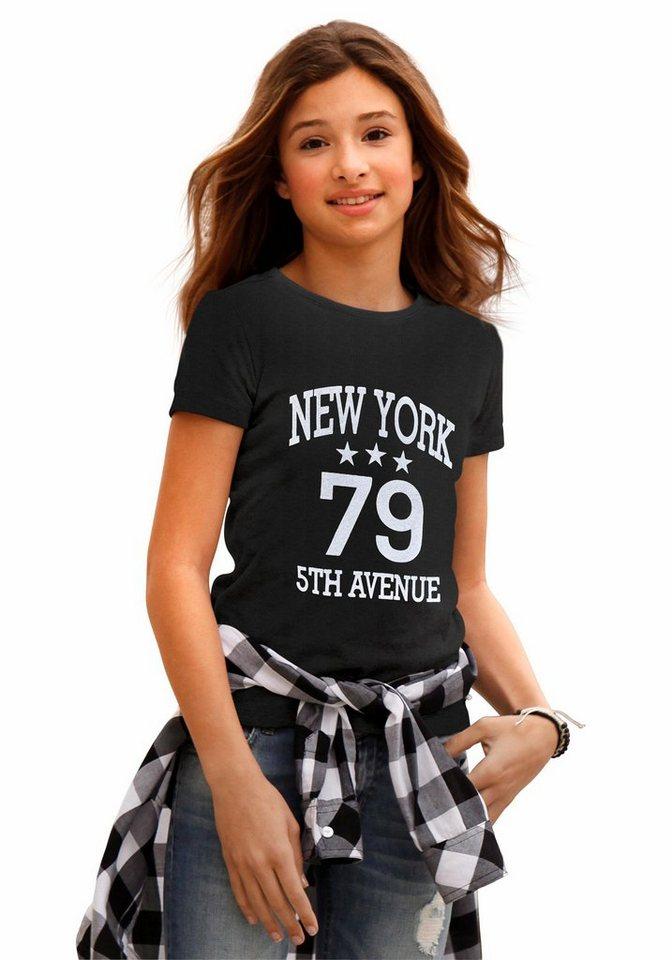 Arizona T-Shirt mit Frontdruck, für Mädchen in schwarz