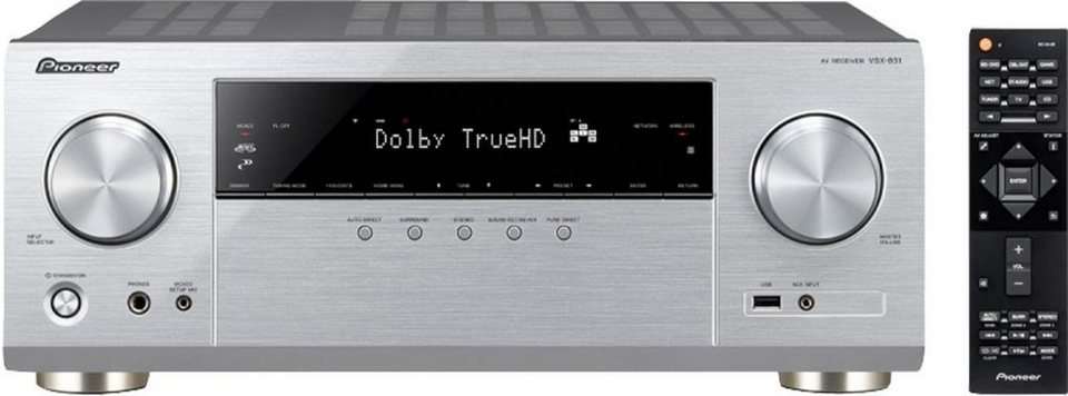Pioneer VSX-831 5 AV-Receiver (Hi-Res, Spotify Connect, Deezer, Airplay, WLAN, Bluetooth) in silberfarben