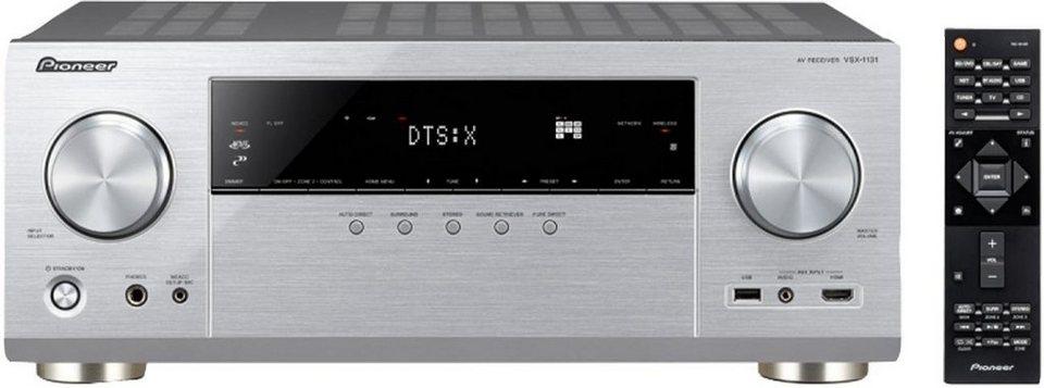 Pioneer VSX-1131 7 AV-Receiver (Hi-Res, Spotify Connect, Spotify, Deezer, Airplay, WLAN, Bluetooth) in silberfarben