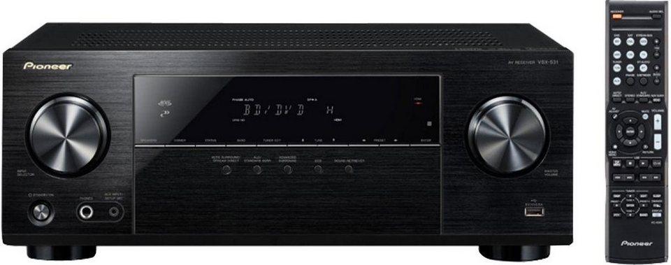 Pioneer VSX-531 5 AV-Receiver (Hi-Res, Bluetooth) in schwarz