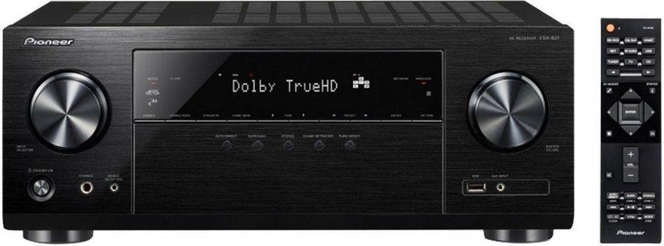 Pioneer VSX-831 5 AV-Receiver (Hi-Res, Spotify Connect, Deezer, Airplay, WLAN, Bluetooth) in schwarz