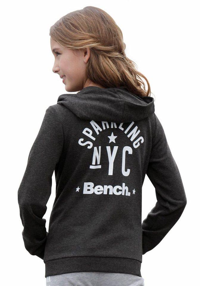 Bench Sweatjacke mit Druck hinten in anthrazit-meliert