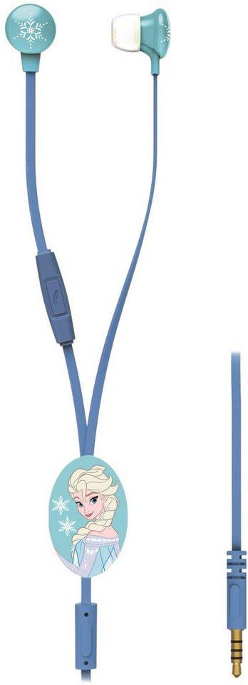 Lexibook, Stereo Ohrstöpsel mit Mikrofon, »Disney Frozen Mini Kopfhörer« in blau