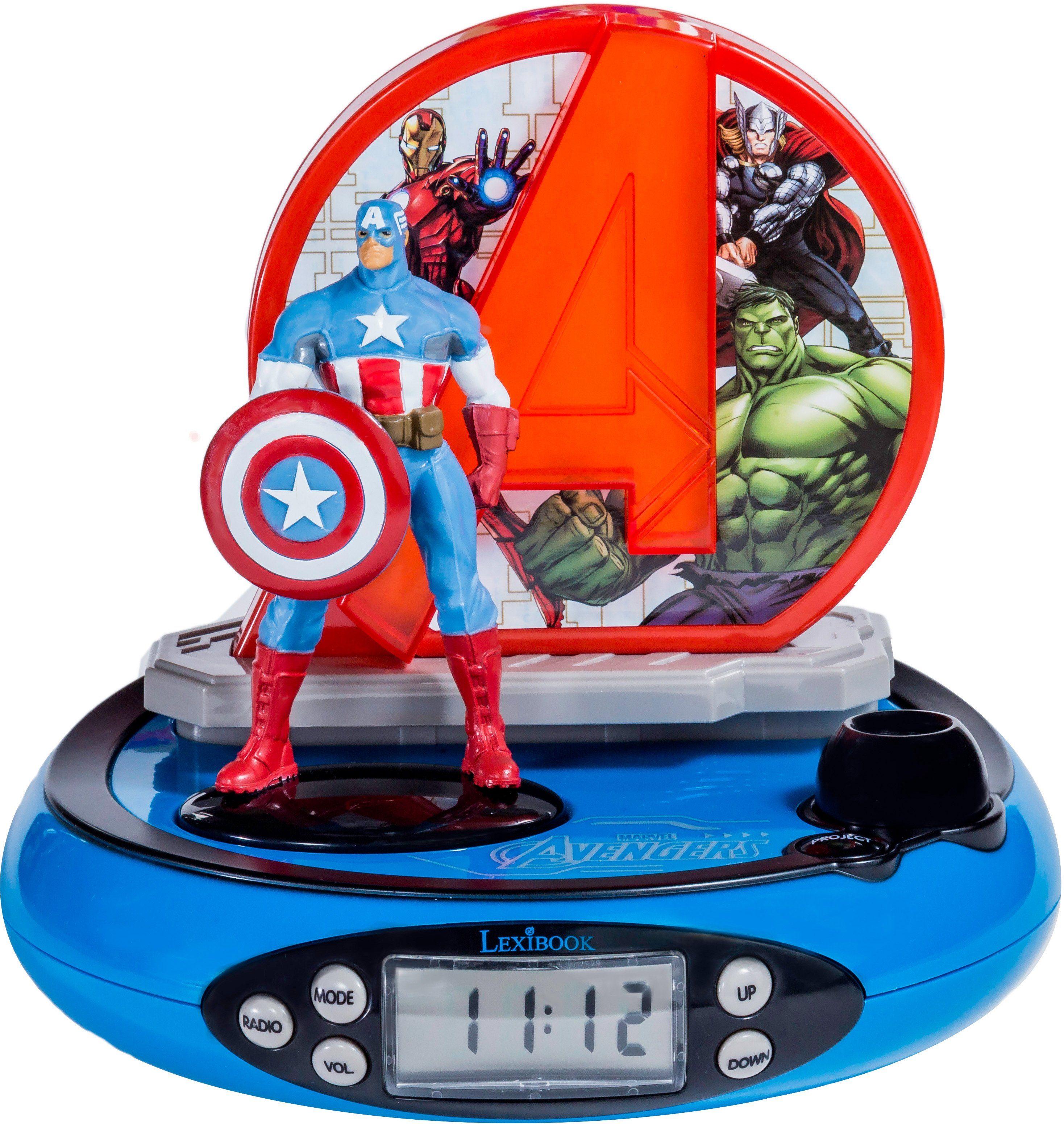 Lexibook, Radiowecker mit Projektion, »Avengers Projektionswecker«