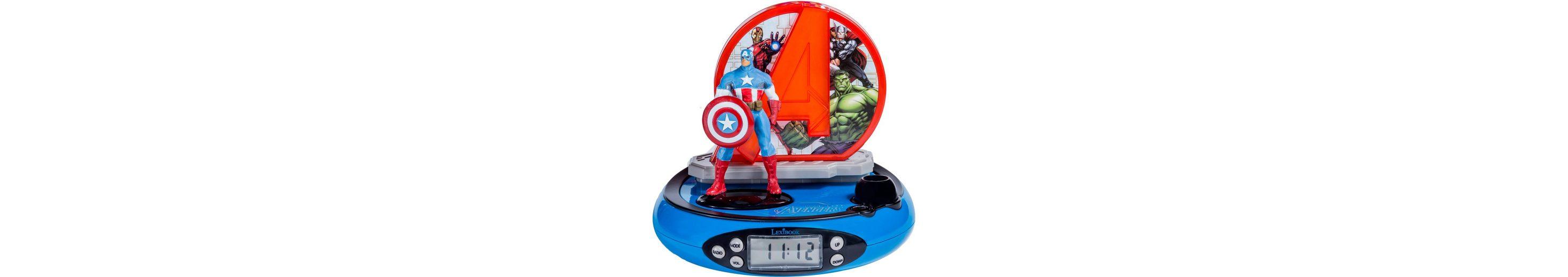 Lexibook Radiowecker mit Projektion, »Avengers Projektionswecker«