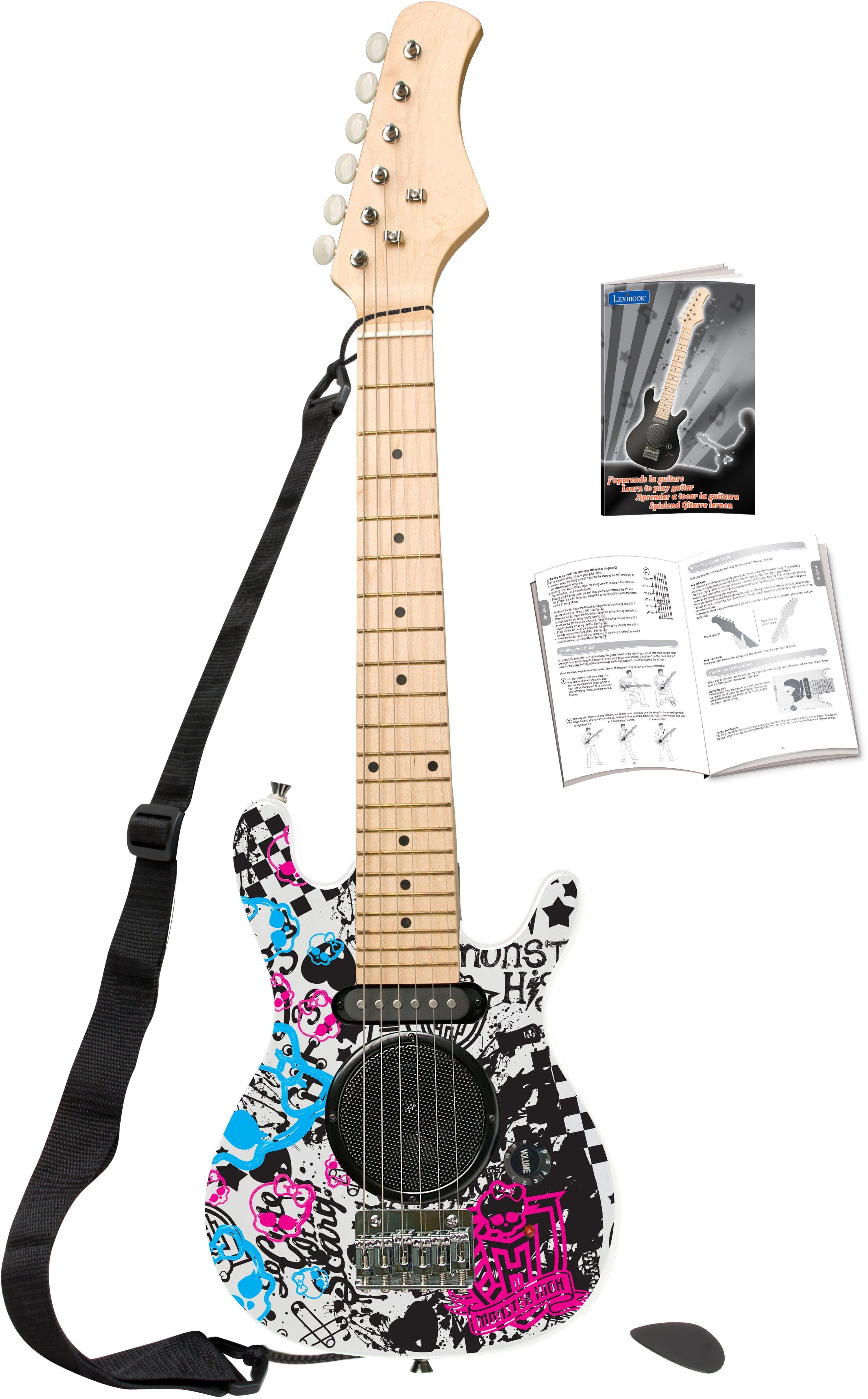 Lexibook Elektrische Kindergitarre mit eingebautem Lautsprecher, »Monster High«