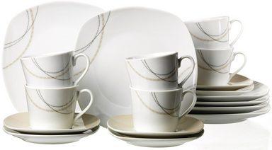 flirt by r b kaffeeservice porzellan 18 teile linda online kaufen otto. Black Bedroom Furniture Sets. Home Design Ideas