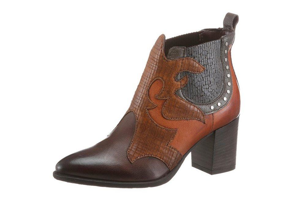 Arizona Ankleboots im Westernlook in braun-cognac