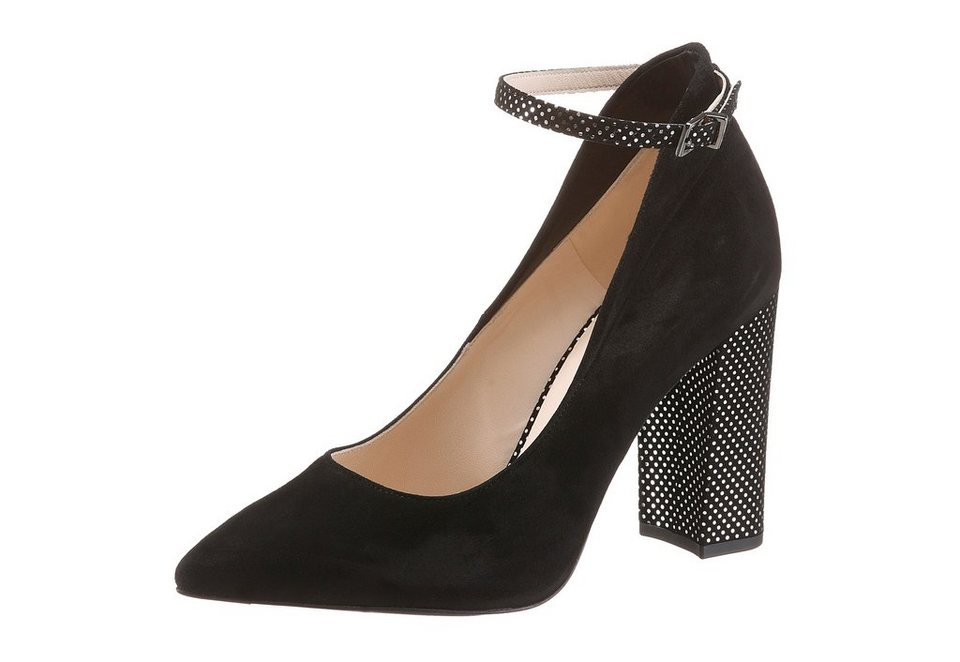 Peter Kaiser High-Heel-Pumps in schwarz-silberfarben