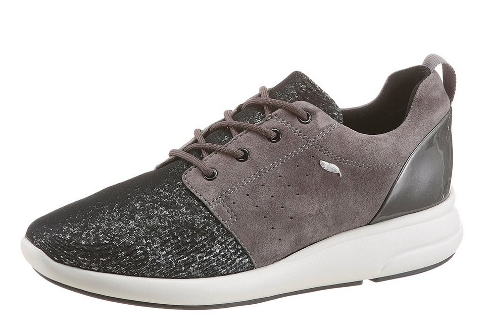 Geox Sneaker in funkelnder Optik in dunkelgrau-schwarz