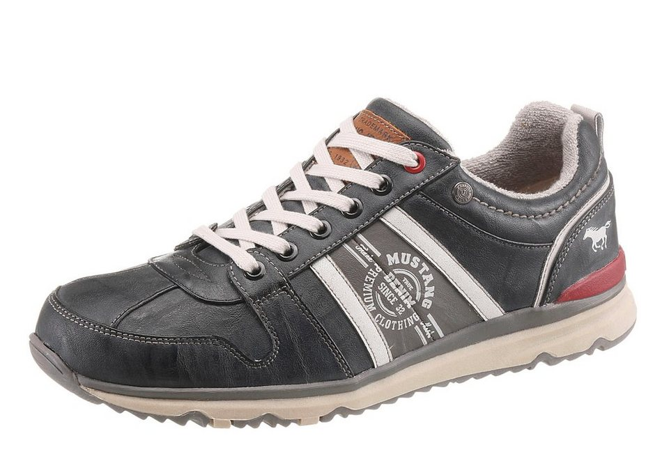 Mustang Shoes Sneaker mit Logo Print in anthrazit-used