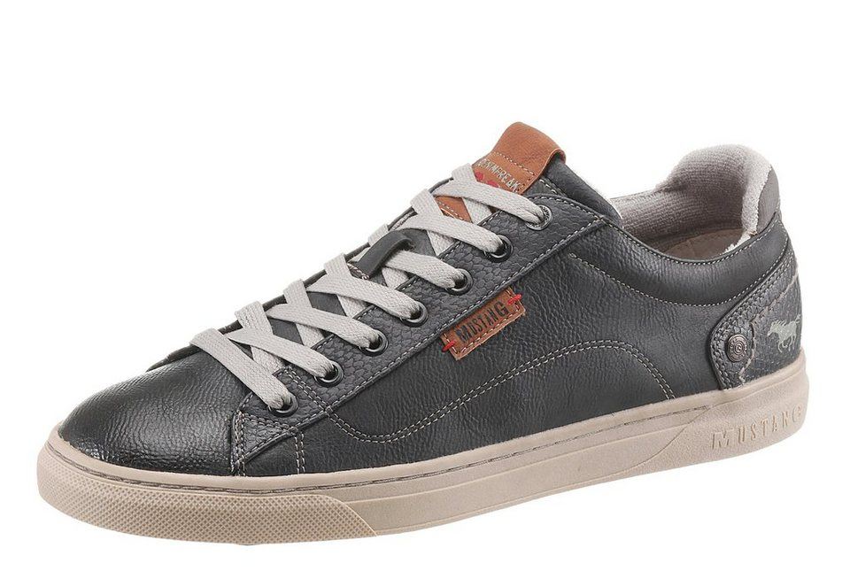 Mustang Shoes Sneaker mit Logoapplikation in anthrazit-used