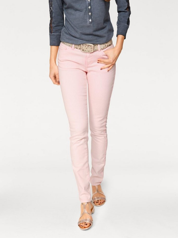 Röhrenhose in rosa
