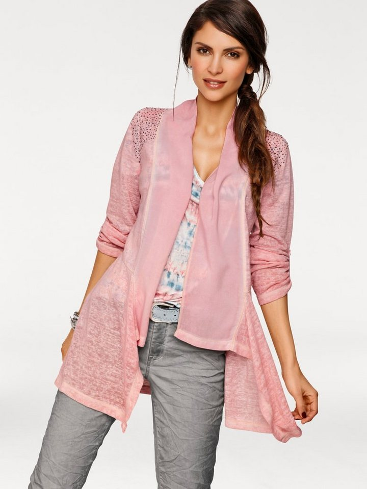 Shirtjacke in rosé