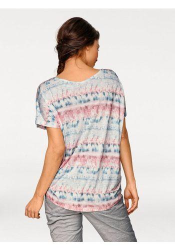 - Damen B.C. BEST CONNECTIONS by Heine Oversized-Shirt im Batik-Dessin blau | 08698304689810