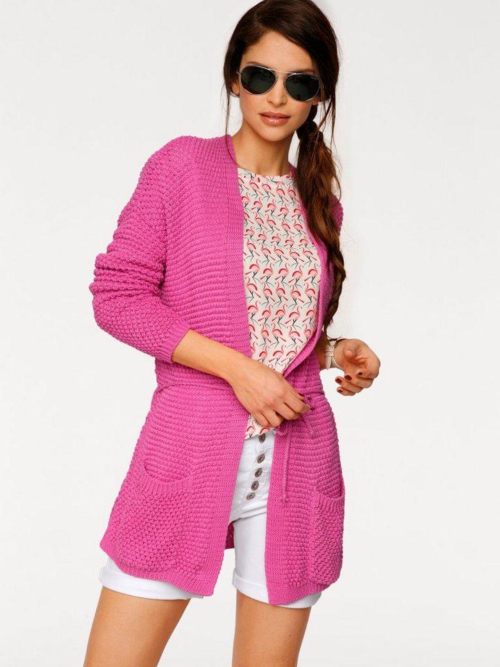 Grobstrickjacke in pink