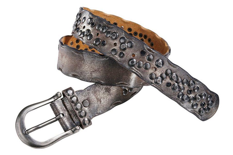 Gürtel in bronzefarben/metallic