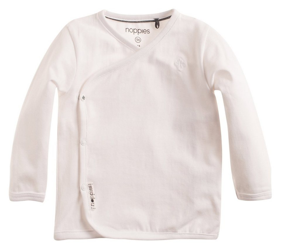 NOPPIES Langarmshirt »Little« in White