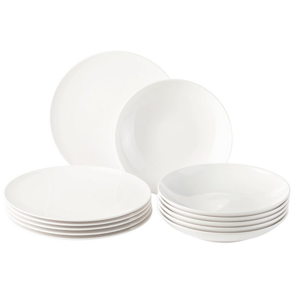 VIVO - VILLEROY & BOCH Tafelset 12tlg. »New Fresh Basic« in Weiss