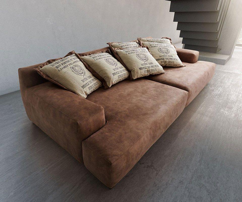 ultsch polsterm bel bigsofa cabana braun 304x140 vintage inkl 6 kissen by ultsch online kaufen. Black Bedroom Furniture Sets. Home Design Ideas