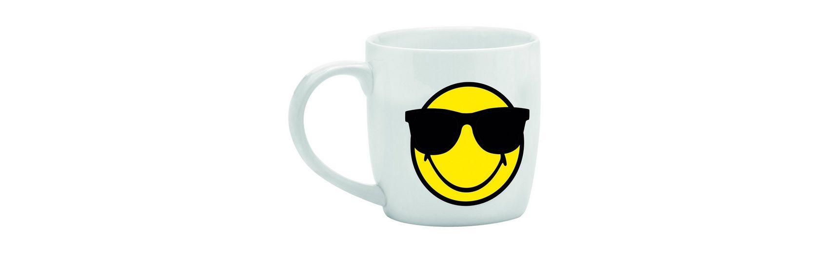 Smiley Tasse, weiß