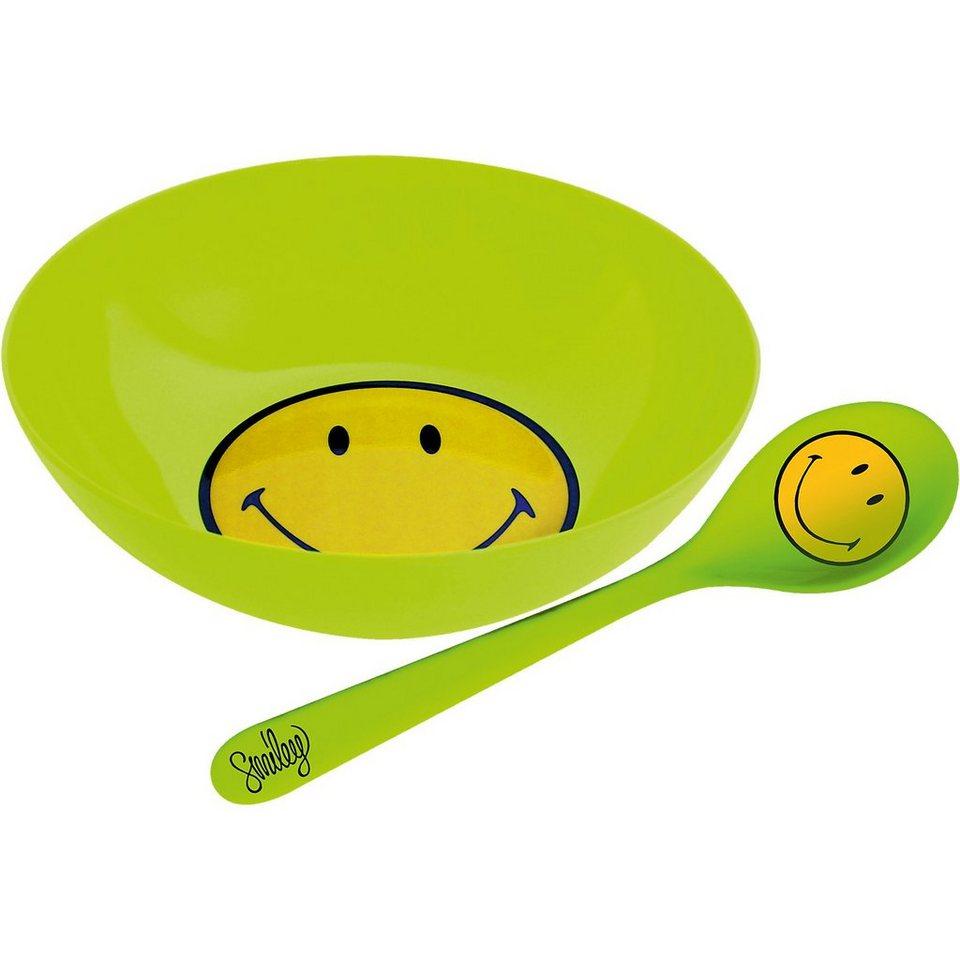 Smiley Frühstücksset, grün in grün