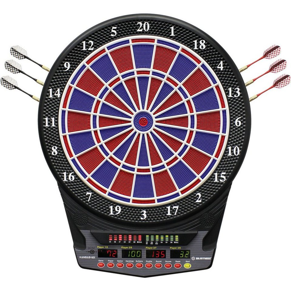 Smartness Elektronik Dartboard Kansas-601 in rot