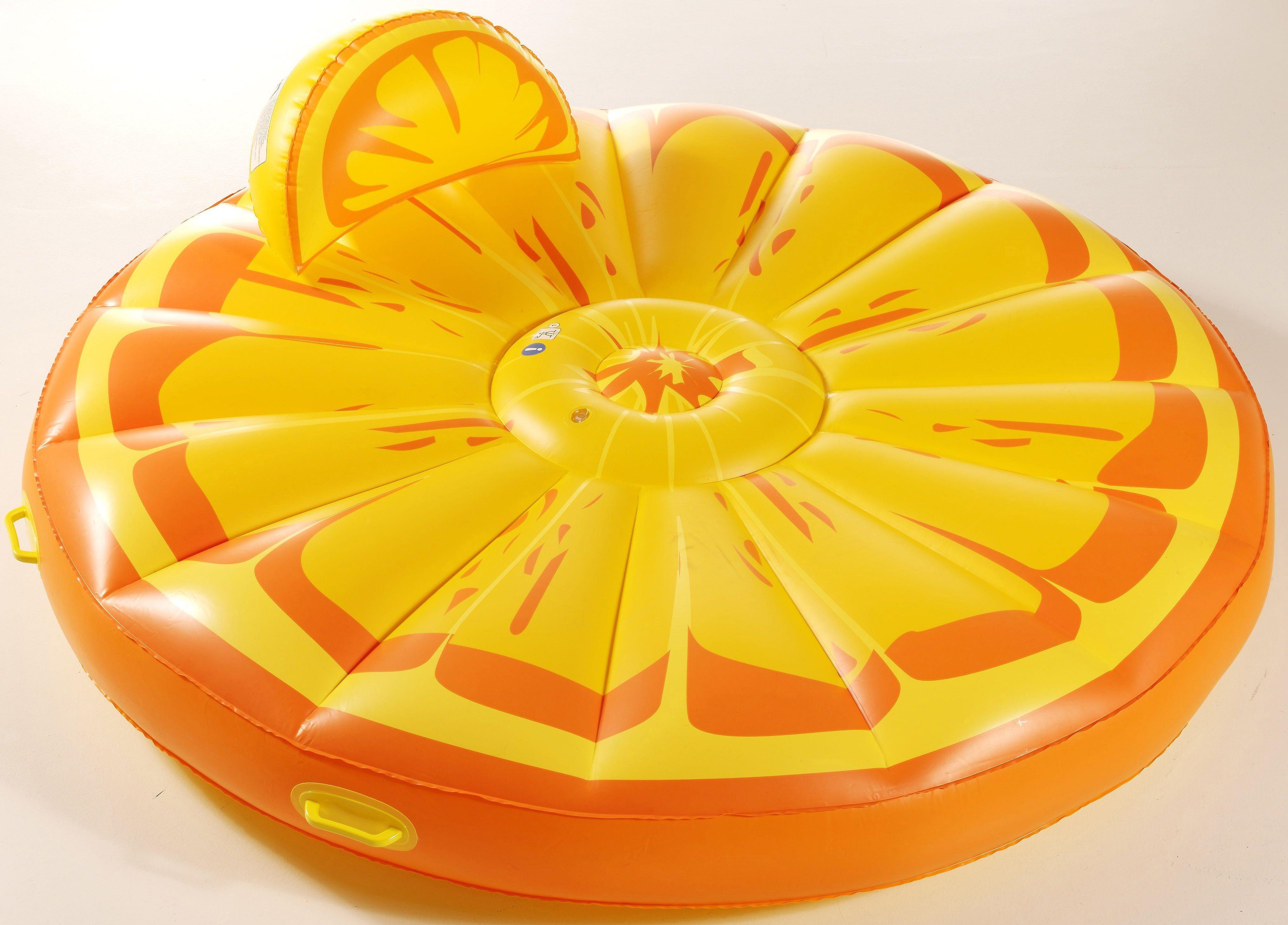 Royalbeach® Badeinsel mit abnehmbarer Kopfstütze, Ø ca. 180 cm, »Orange Island«