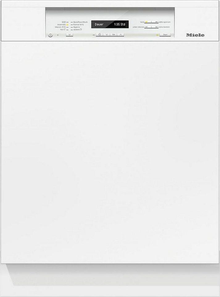 MIELE Teilintegrierbarer Geschirrspüler G 6820 SCi, A+++, 9,9 Liter, 14 Maßgedecke in weiß