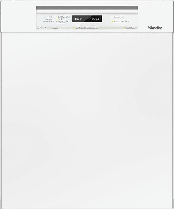 MIELE Unterbaugeschirrspüler G6730SCU weiß, A+++, 9,7 Liter, 14 Maßgedecke