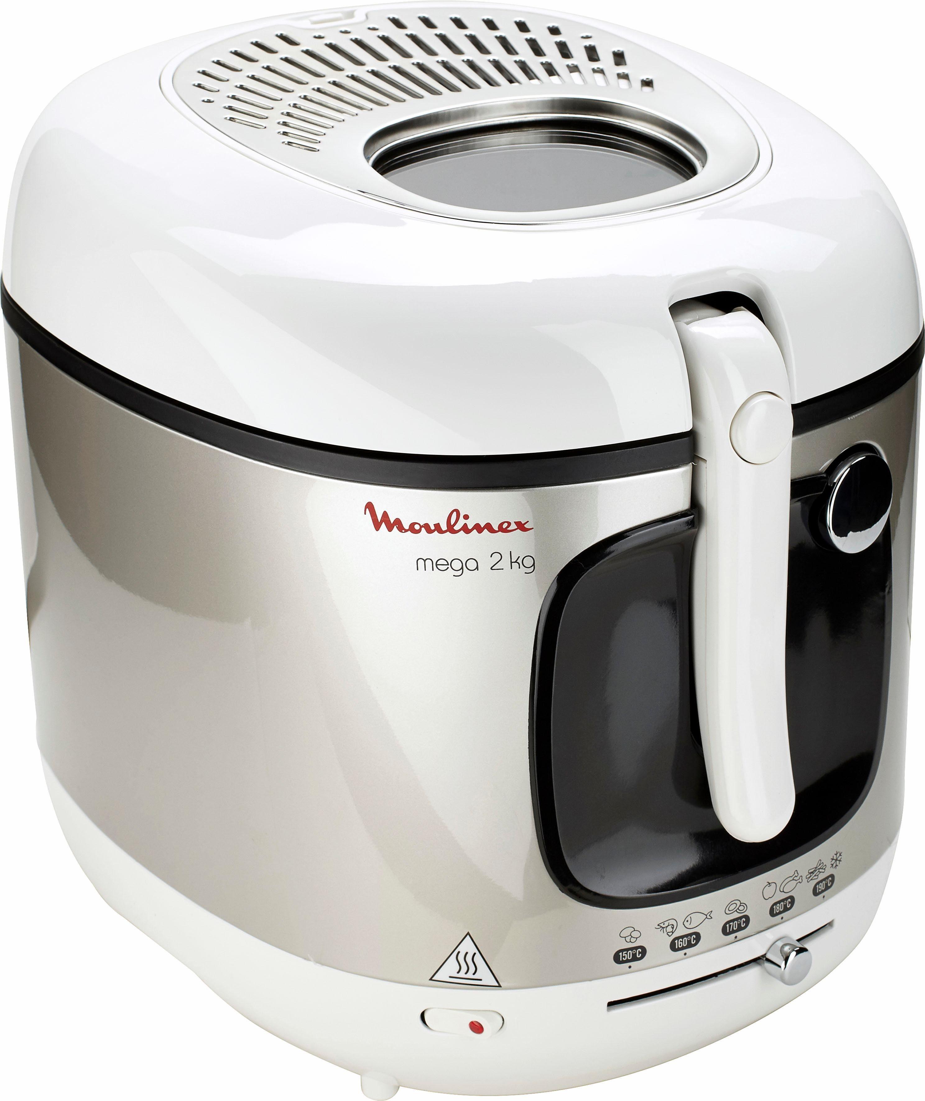 Moulinex Fritteuse Mega AM4800, 2100 Watt, 2 kg Frittiergut