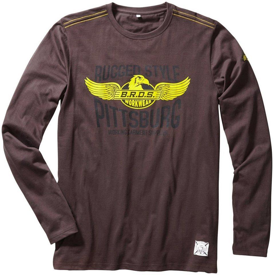 T-Shirt »Workwear Langarm« in grau