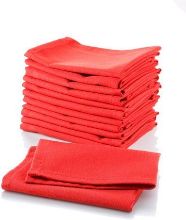 Stoffserviette »Uni-Rot«, (Set, 12 St)