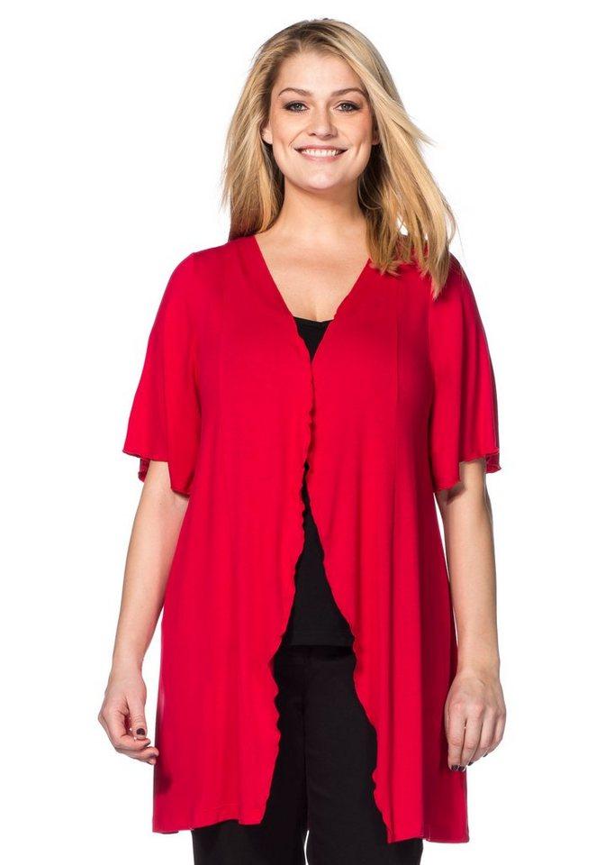 sheego Style Shirtjacke mit Flügelärmeln in rot