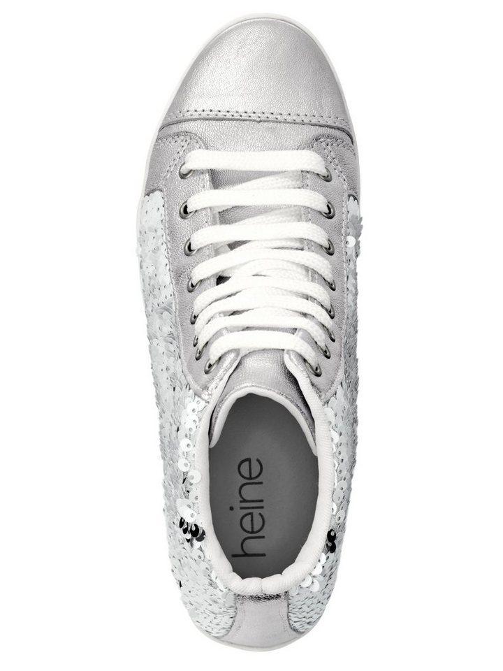 Heine Sneaker in weiß/silberfarben