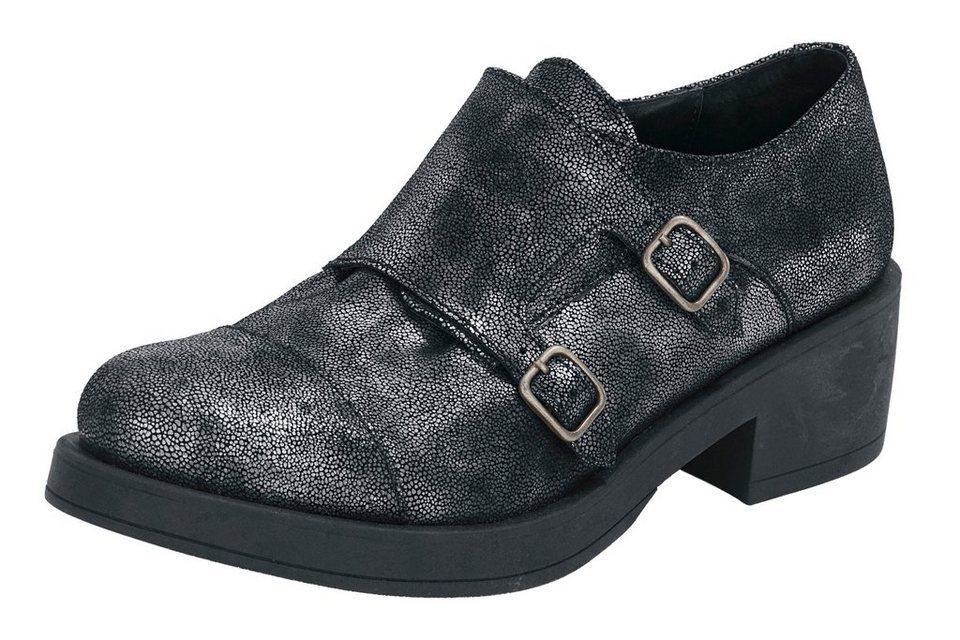 Slipper in schwarz/metallic