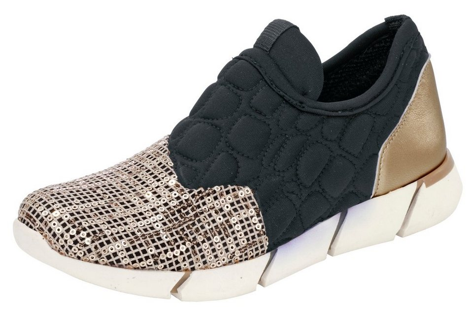 Andrea Conti Sneaker in schwarz/goldfarben