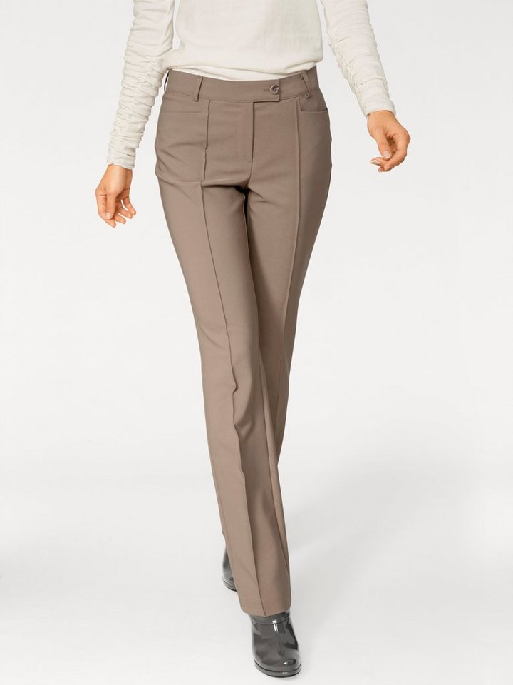 Stretchhose in taupe