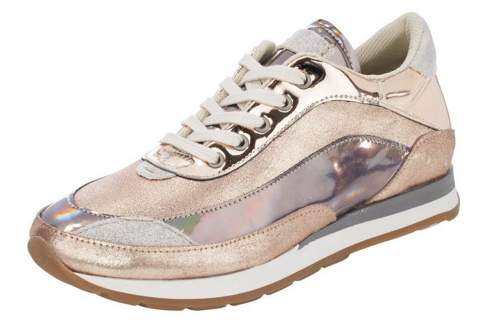 Sneaker in nude/metallic