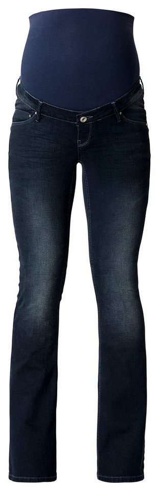 NOPPIES Bootcut Umstandsjeans »Jade« in Dark Stone Wash