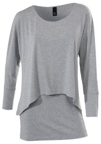 CASUAL блуза с круглым вырезом в асимм...