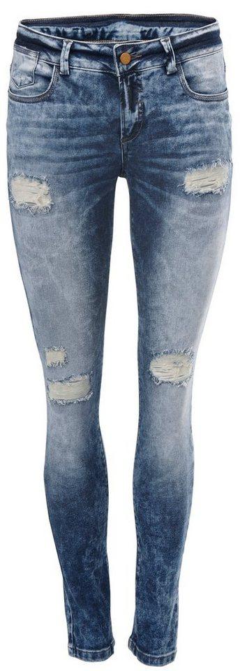 Skinny-Jeans in grey denim