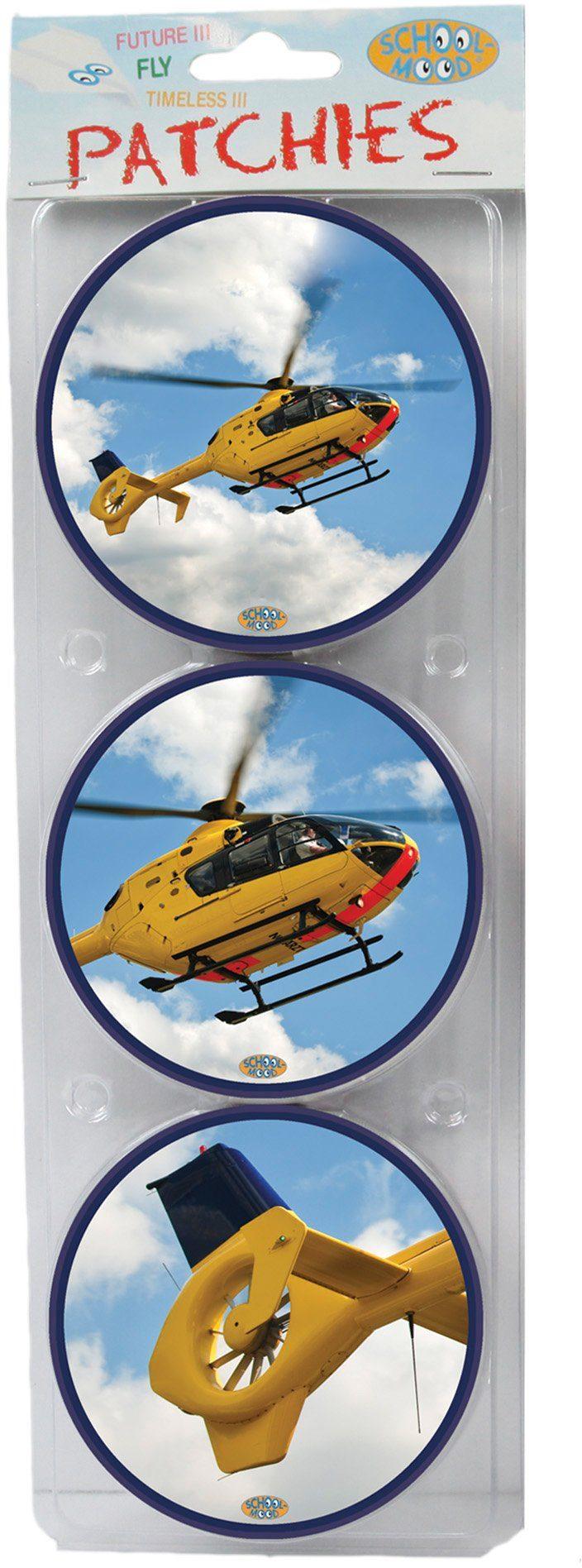 School Mood Zubehör für Schulranzen, »Patchy Helicopter«